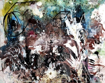 Original painting on canvas - abstract painting handmade art painting furniture saverio filioli