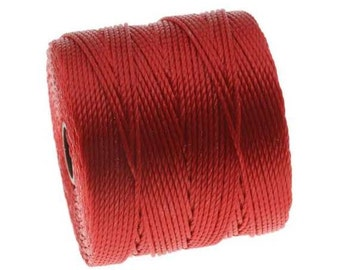 Twisted Nylon Cord - Extra-Heavy Size #18 Twisted Nylon Cord - Shanghai Red - 77 Yard Spool
