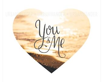 You & Me Sunset Deep Matte Wall Art