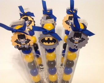 6 Batman - Birthday Party Favor Gumball Candy