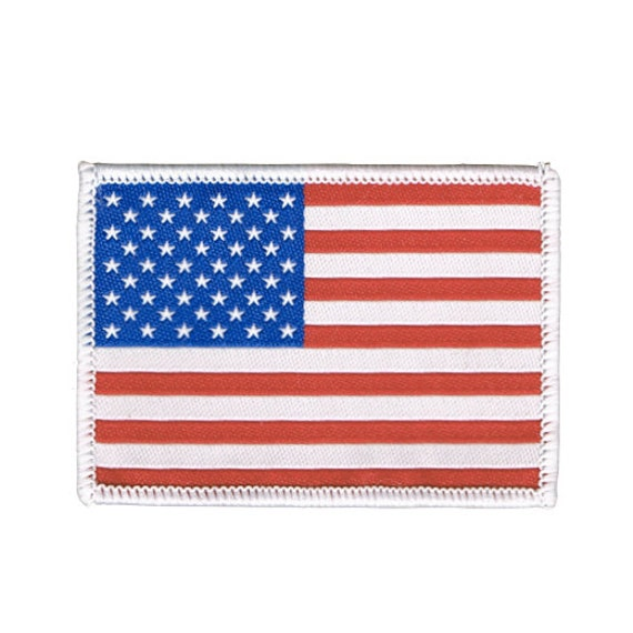 US Flag Patch Polo Shirt - White TheFlagShirtcom
