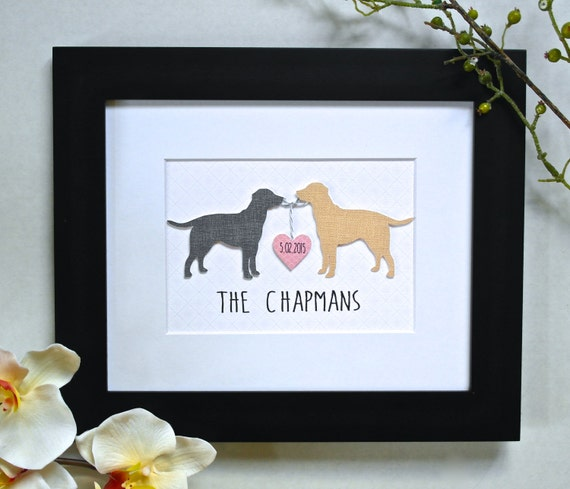 Wedding Gift Ideas For Dog Lovers : ... Wedding Gift, Personalized Dog Gift, Gift for Dog Lover, Dog Lover