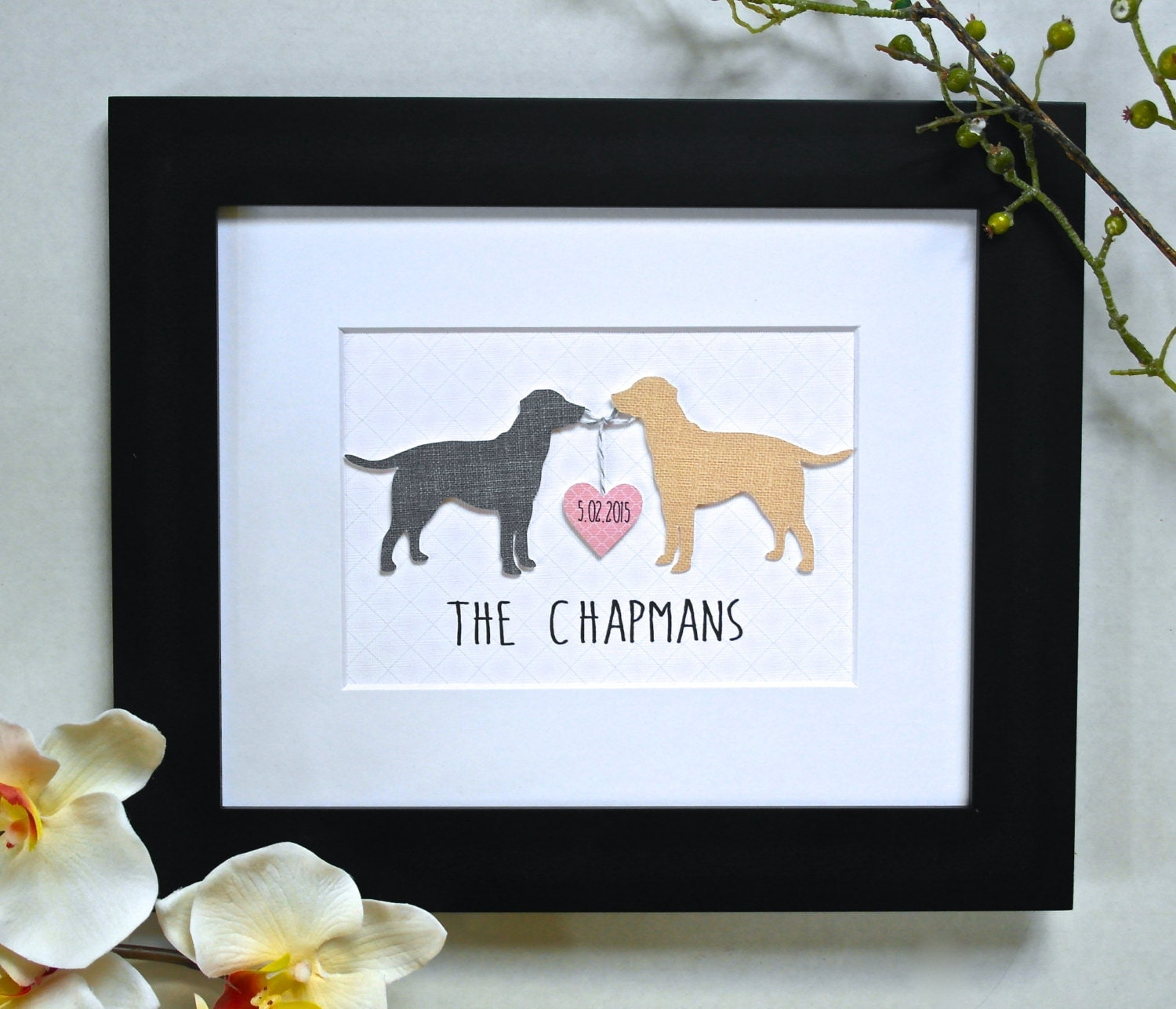 Wedding Gifts For Art Lovers : 3D CUSTOM DOG Art Labrador Art Unique Wedding Gift