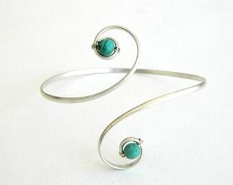 Upper Arm Bracelet, turquoise bracelet, Bracelet with stones, turquoise, Upper Arm Cuff, bracelet, Arm Bracelet turquoise, arm bracelet