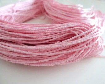 10 metres of wax string wax cord pink