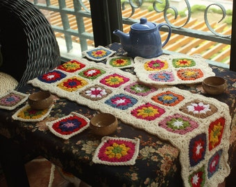 Crocheted slipcovers and pads