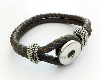 Leather Rope Snap Bracelet