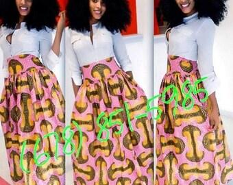 YKC African prints jaime Maxi skirt
