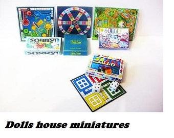 set of  board game boxes
