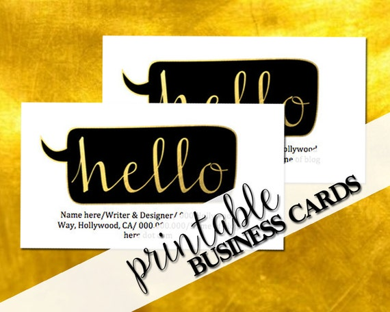 Printable business card business cards by CareerGirlDesigns
