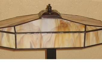 Stained Glass Lampshade and Mission Desk Lamp Base PDF Instructions and Pattern