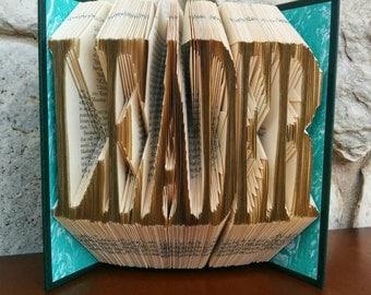 Leader - Folded Book Art - Fully Customizable, president, school, scout, law