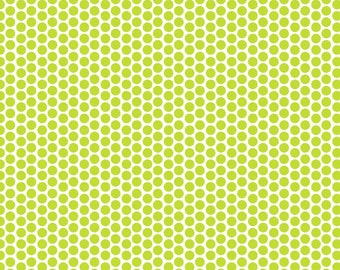 Lime Green Reverse Honeycomb Dot Fabric by Riley Blake
