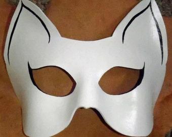 Custom Leather Cat Mask