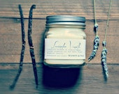 Lavender Vanilla Mason Jar Soy Candle | Lavender Candle | Vanilla Candle | Lavender Vanilla Candle | Soy Candle | Essential Oil Candle