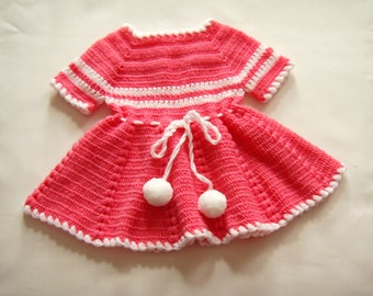 Children's hand-knitted dress