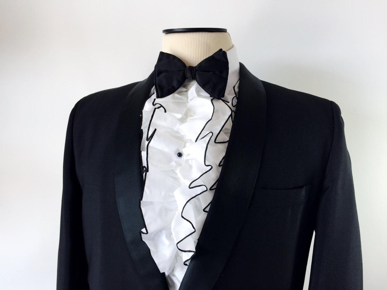 Men 39 S Vintage 70 39 S Ruffled Dickey Tuxedo Shirt By