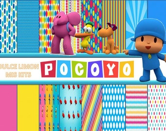 kit digital papers pocoyo more images!!!