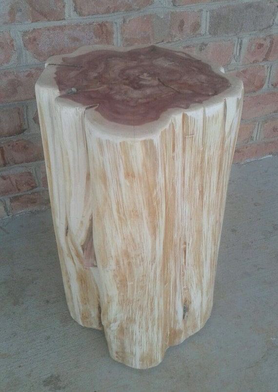 Red Cedar Stump Stool End Table Photo Prop Plant Stand
