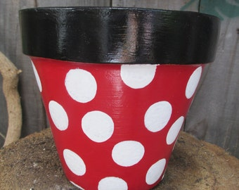 Minnie Mouse Inspired Flower Pot