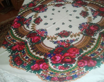 Wedding table cloth, wedding table cover, table topper, beautiful floral tablecloth design, wedding runner, table decoration, garden party
