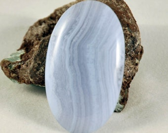 41mm Blue Lace Agate Oval Cabochon