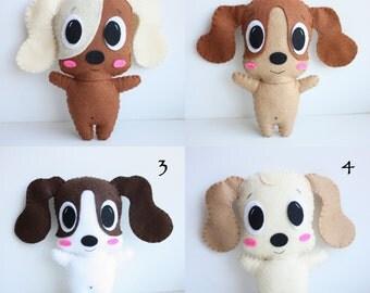 Cute Puppy Felt Plush Toy
