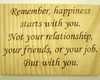 Remember Happiness plaque