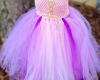 The Rapunzel - Tangled tutu costume, princess costume, princess tutu, Rapunzal costume, Rapunzel dress, pink princess tutu dress