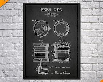 1937 Beer Keg Canvas Print, Beer Keg Poster, Beer keg Patent, Beer Keg Print, Beer Keg Art, Beer keg Blueprint, Beer keg Wall Art