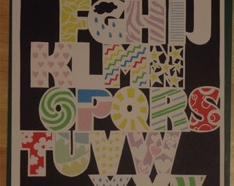 Funky alphabet paper cut template - personal and commercial use