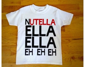 Nutella, cool kids,nutella shirt, hipster shirt, hipster fashion, hipster baby clothes, baby shower gift