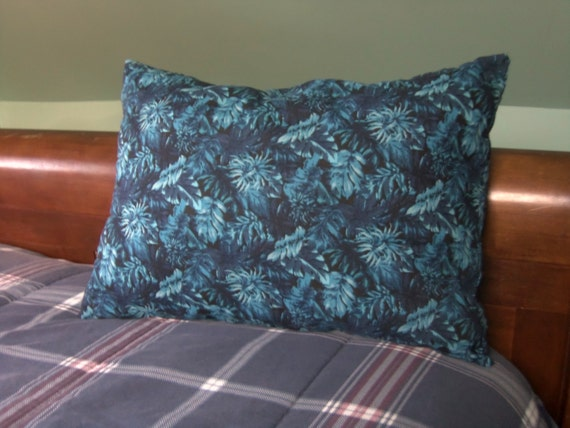 Smoke Blue Throw Pillow : Decorative Throw Pillow Blue with Flowers by PillowsForNow on Etsy