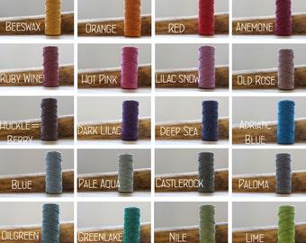 fine hemp yarn in 28 colours
