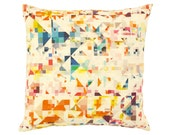 Contemporary Cushion Cover - Geometric Pillow - Northmore Minor - Multi-Colour Geometric Pattern