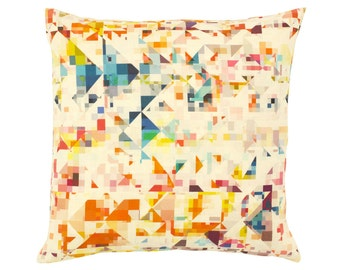 Contemporary Cushion Cover - Geometric Pillow - Northmore Minor - Multi-Colour Geometric Pattern