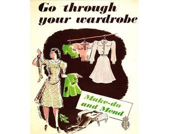 Go Through your wardrobe Vintage Advertising Enamel Metal TIN SIGN Wall Plaque