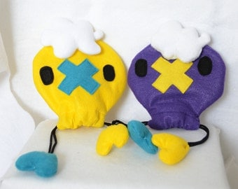 Pokemon Drifloon Shiny Dice Bag Drawstring Pouch Plush