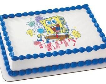 """SpongeBob Edible Image """"Happy"""""""