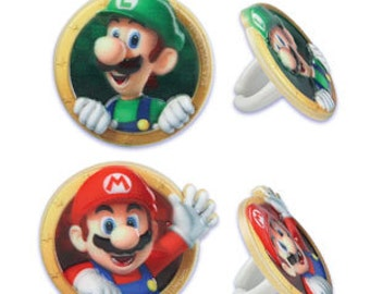 Super Mario Cupcake Rings
