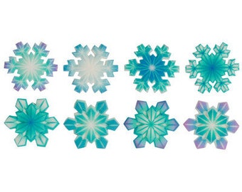 SUGARSOFT Edible Snowflake Decorations 12 Pieces!