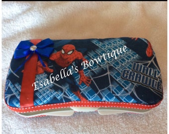 Spider man wipe case;boys wipe case;travel wipe case;baby accessories