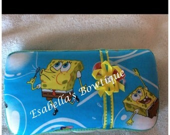 Sponge bob wipe case;wipe cases;boys wipe cases;custom wipe cases;baby accessories
