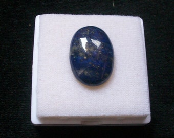 26.5x19mm Natural LAPIS LAZULI oval cabochon AAA Quality gemstone.....