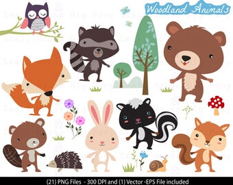 Woodland Animals Clipart , Animals Clipart, woodland Clipart , Forest Animals Clipart, animal clipart