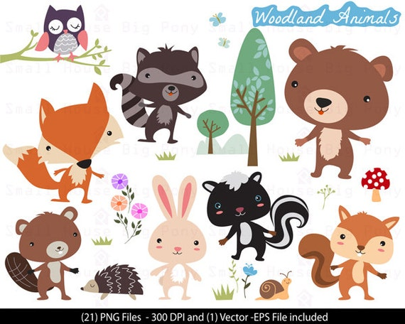 Woodland Animals Clipart , Animals Clipart, woodland Clipart , Forest Animals Clipart, animal clipart