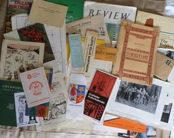 Vintage Ephemera Pack from 1903 - 1986 for Scrapbooking, Crafts, Art, Projects, Collage and Framing