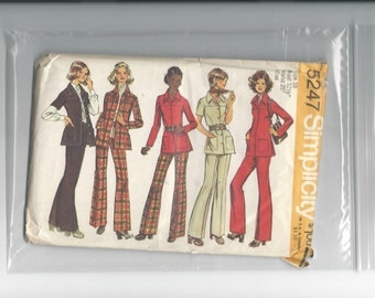 Simplicity 5247 Misses Shirt, Jacket and Pants Size 10 Bust 32- 1/2