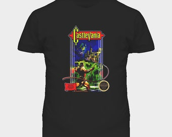 Castlevania Nes Retro Video Game T Shirt