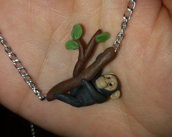 Chimpanzee Necklace Hanging Pendent Charm and Chain